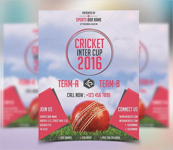 Inter Cup Cricket Flyer