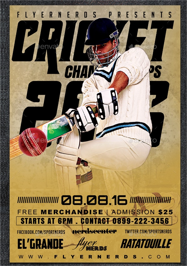 Cricket Championship Flyer