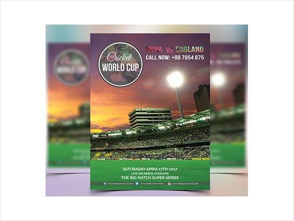 Cricket World Cup Flyer