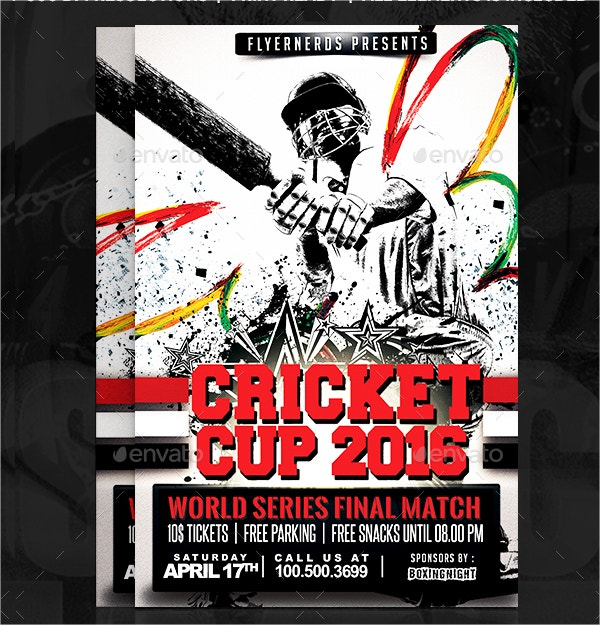 Cricket Cup Sports Flyer