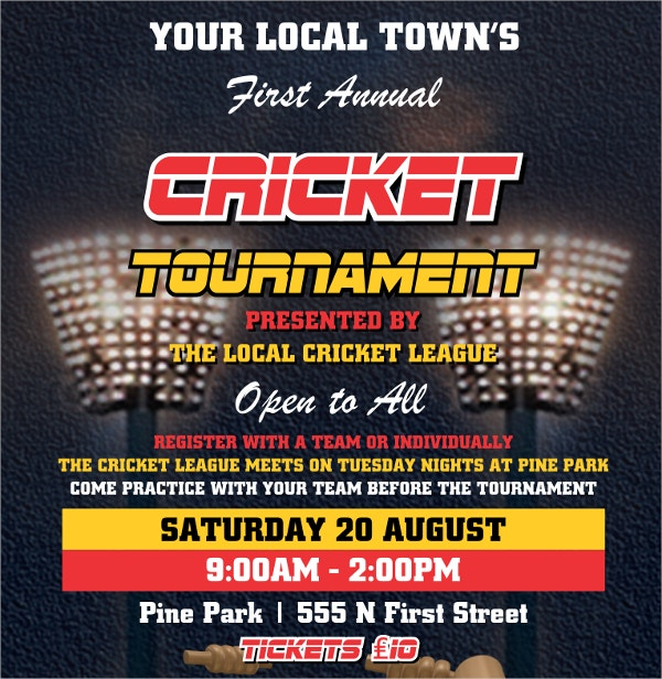 Local Cricket League Flyer Template