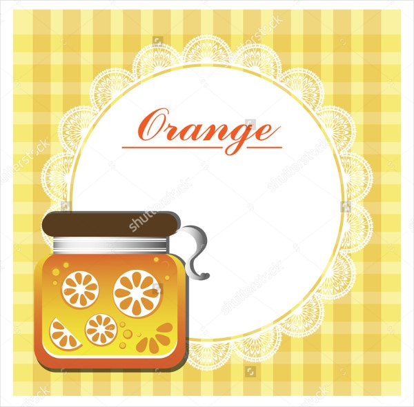 Label for Orange Jam Jar