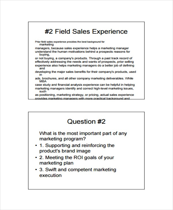 Marketing Skills Assessment Template