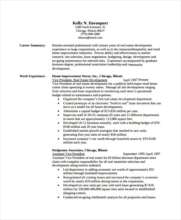 Academic Resume Template - 6+ Free Word, Pdf Document Downloads