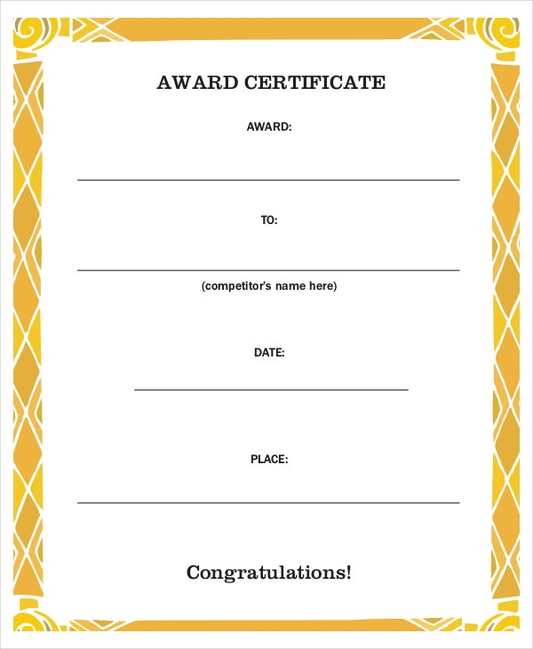 Congratulations Certificate Templates  Free Sample Example