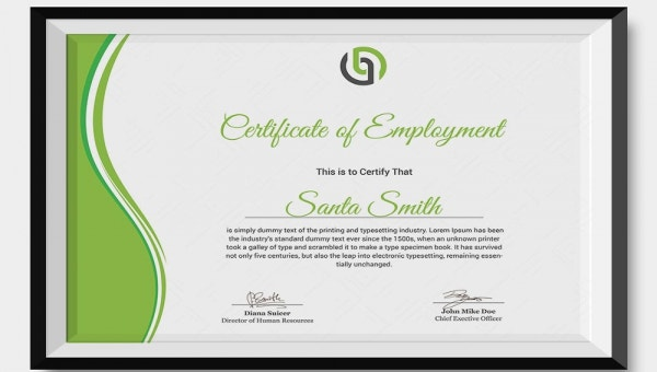 27 Sample Certificate Of Employment Templates Pdf Doc Psd Ai