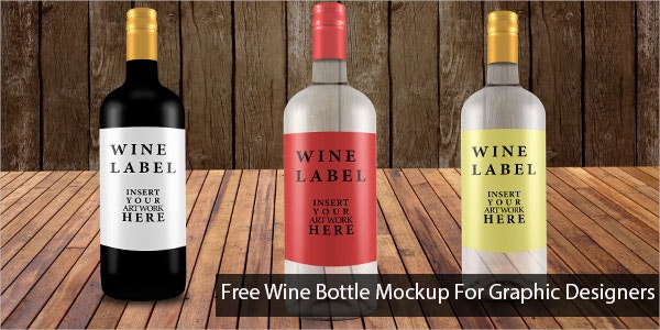 Wine Bottle Mockup for Graphic Designers