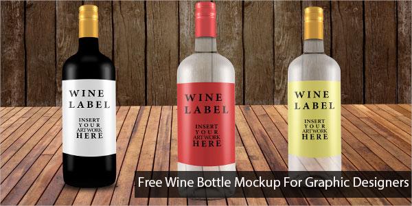 wine bottle mockup for graphic designers