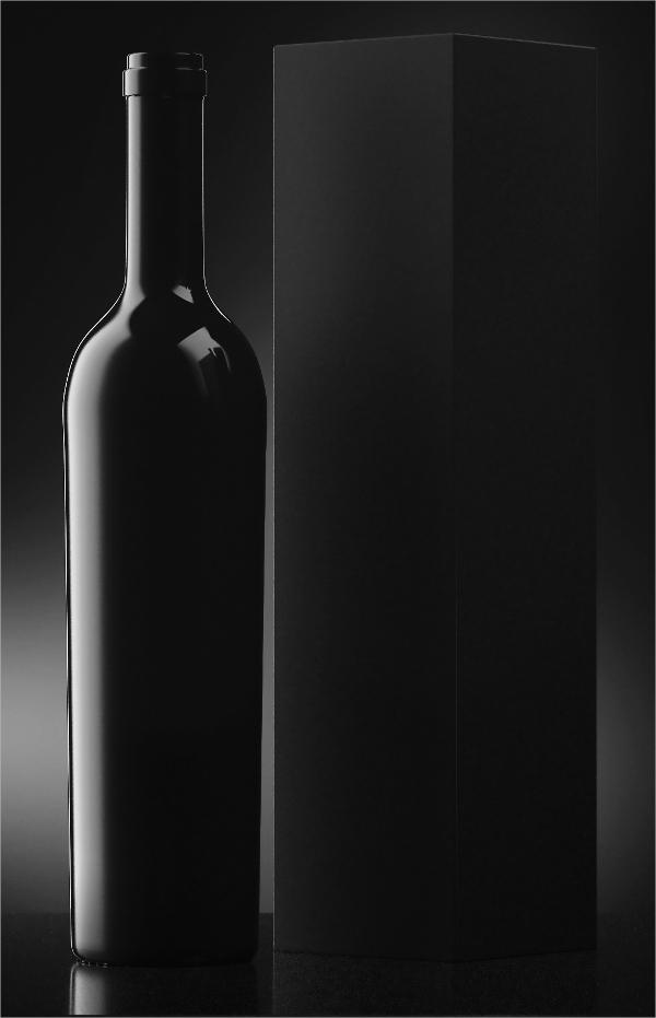 black bottle mockup