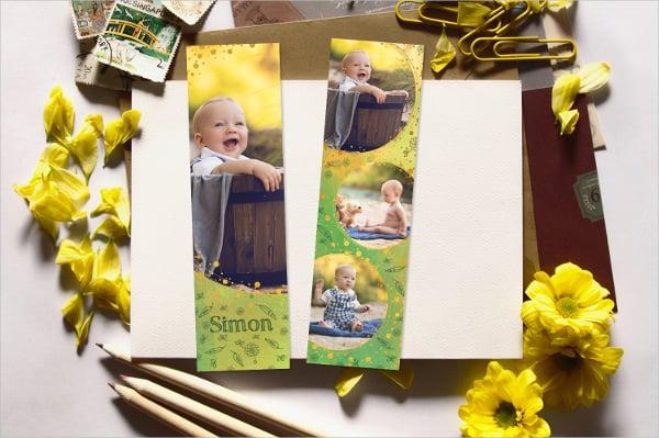 baby memorial bookmark template
