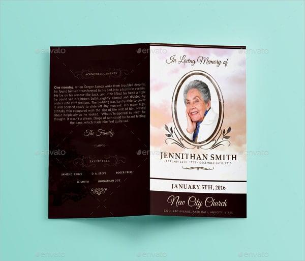 loving memory funeral print template