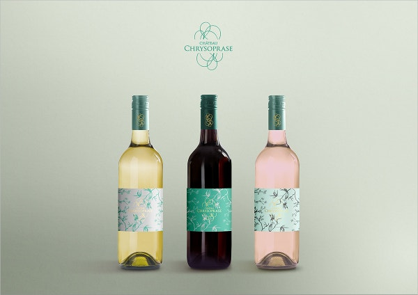 Free PSD Wine Bottle Display Mockup