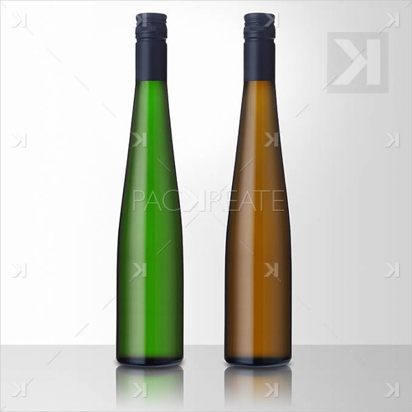 Free Riesling Wine Isolated Blank PSD