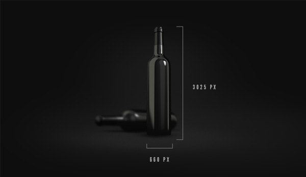 Brand Wine Bottle Mockup