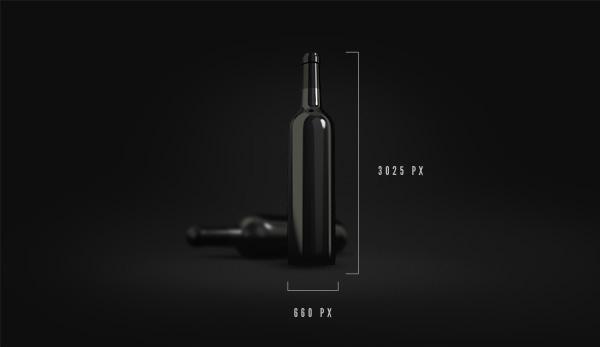brand wine bottle mockup