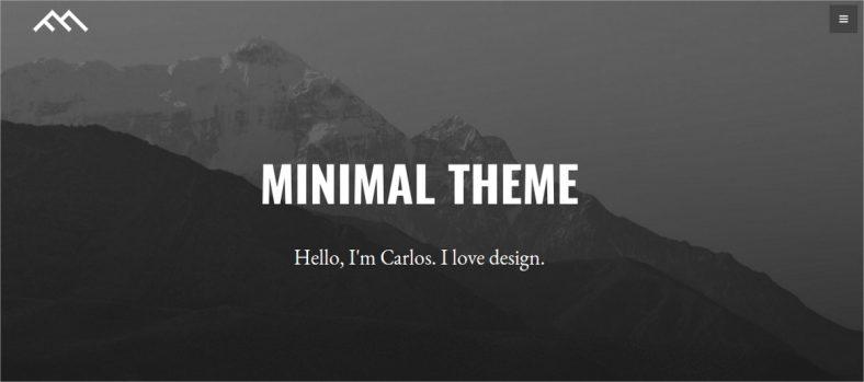 minimal free bootstrap joomla template 788x349