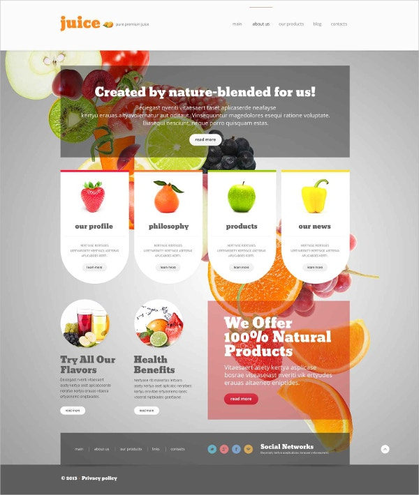 Food & Drink Multilingual WordPress Theme $75