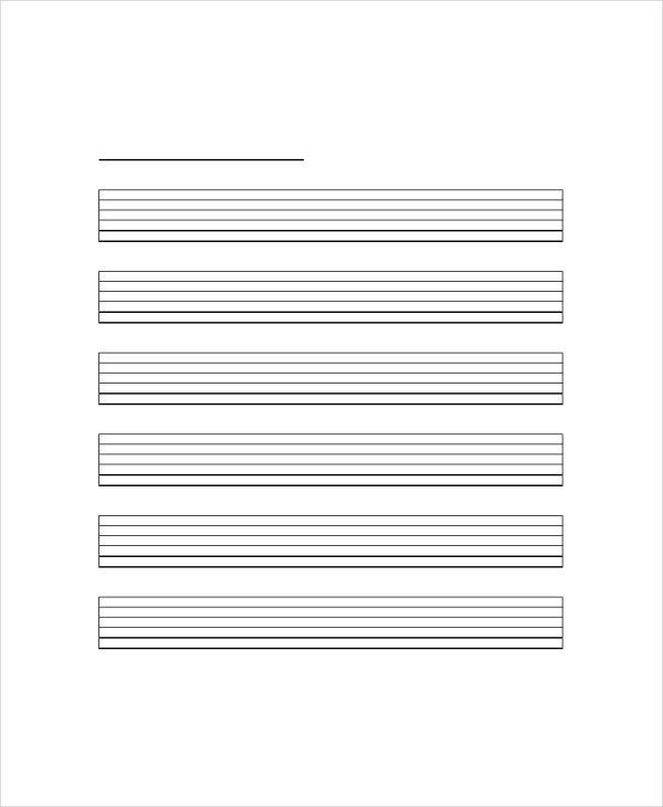 Blank Guitar Chord Chart Template - 5+ Free PDF Documents Download : Free u0026 Premium Templates