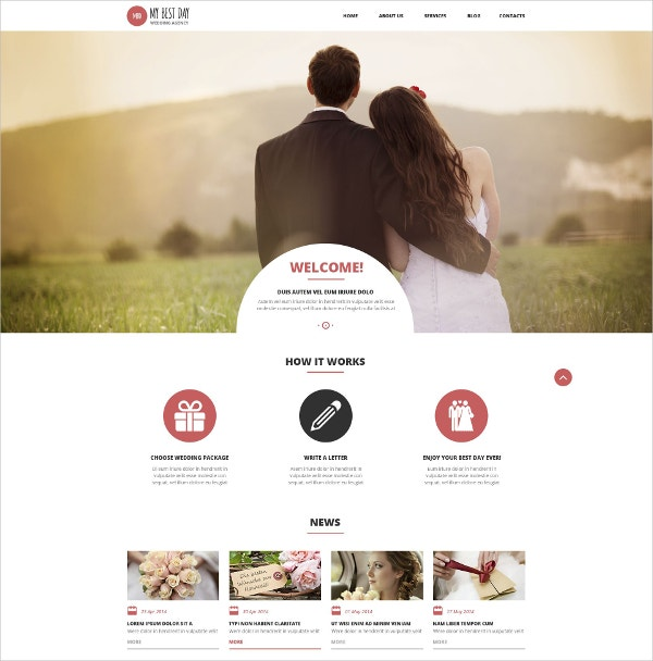 Wedding Planning Consultancy Multilingual WordPress Theme $75