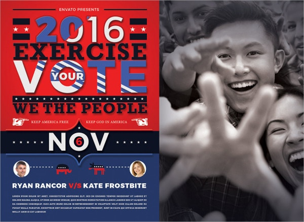 Exercise Your Vote Political Flyer