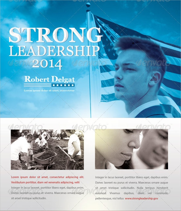 Strong Leadership Political Flyer Template