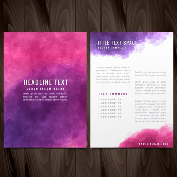 Flyer in Watercolor Style Free Vector