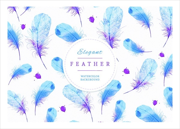 Watercolor Feather Art