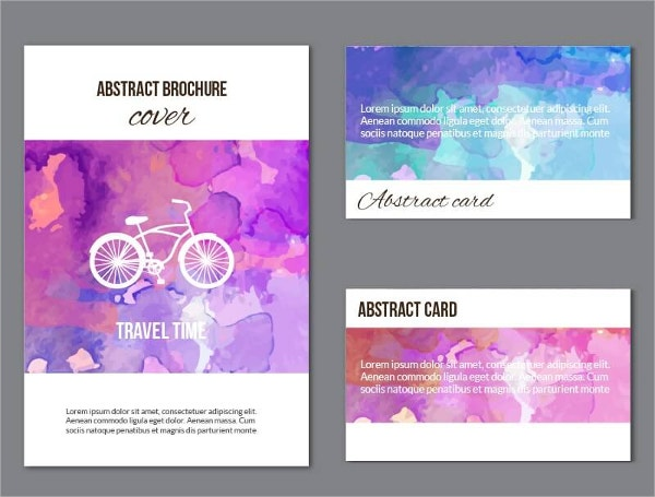 watercolor brochure