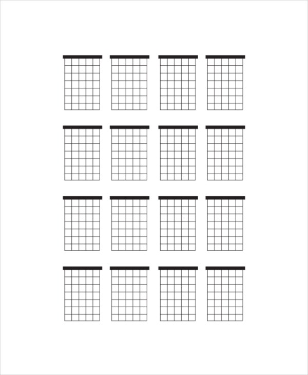 graphic about Printable Blank Guitar Chord Chart titled Blank Guitar Chord Chart Template - 5+ Cost-free PDF Files