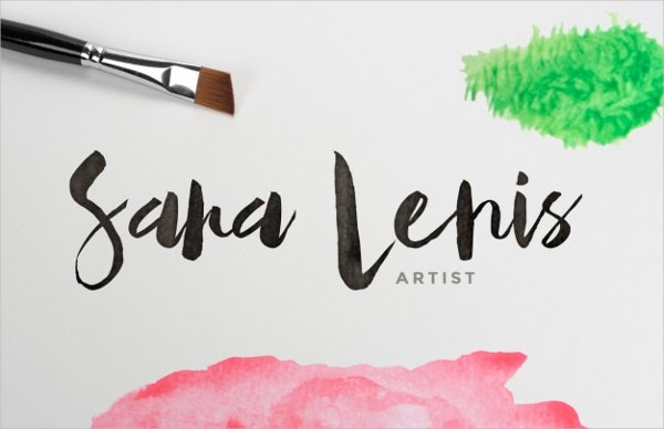 watercolor stained logo