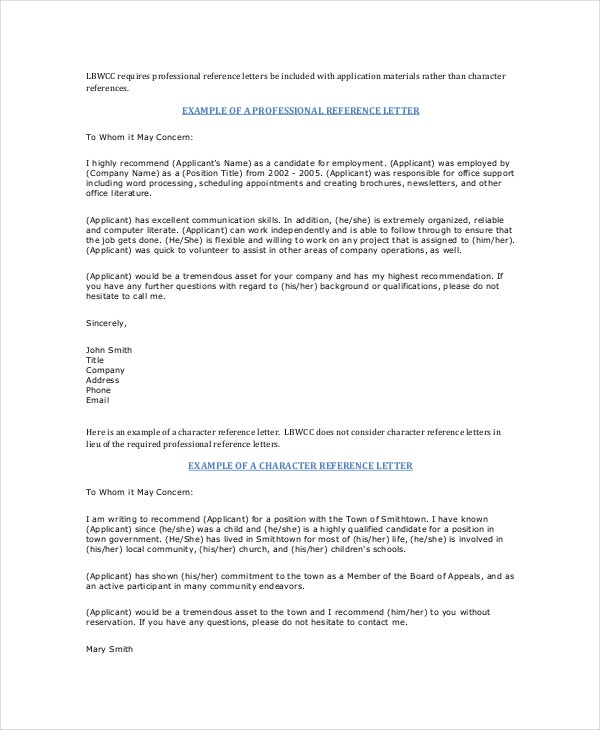 employee recommendation letter sample pdf employment reference letter 8 free word excel pdf 12342