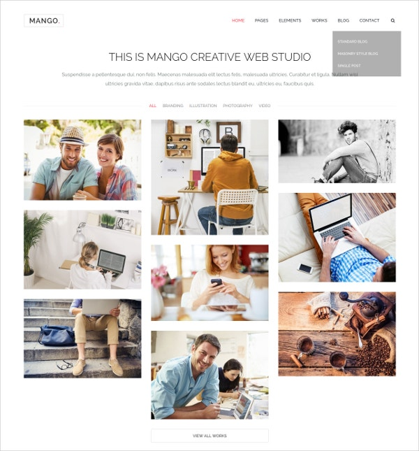 Multilingual Portfolio & Business WP Theme $44