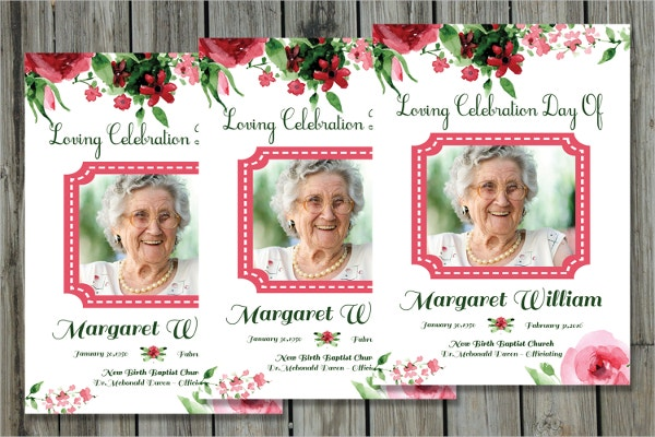 Funeral Program Card Template  Prayer Card Template Free