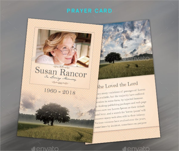 Classic Funeral Program Stationary Template