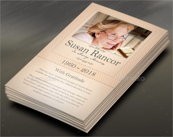 Funeral Program Stationary Template
