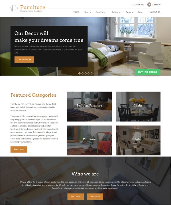 Interior Multipurpose Multilingual WordPress Theme