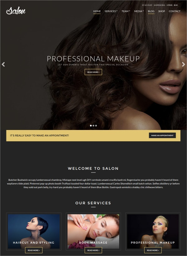 Spa & Salon Multilingual WordPress Theme