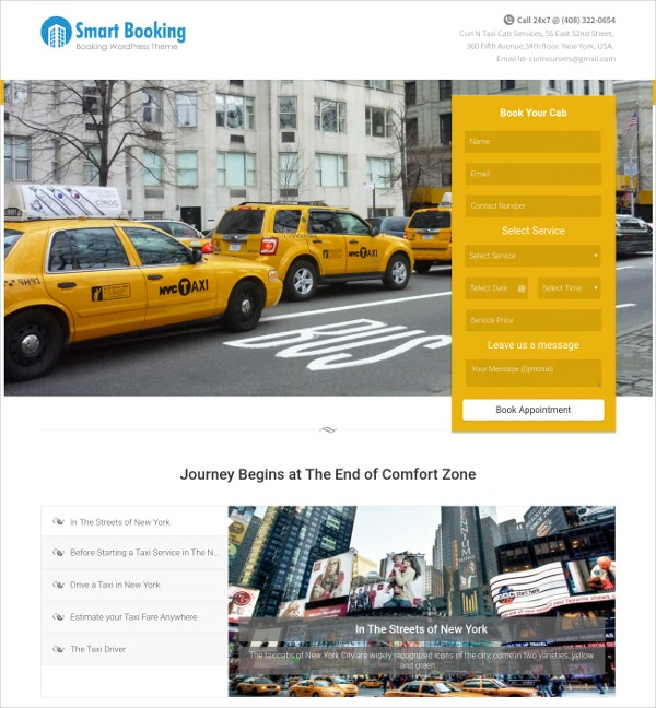 Taxi Cab Services Multilingual WordPress Theme $97