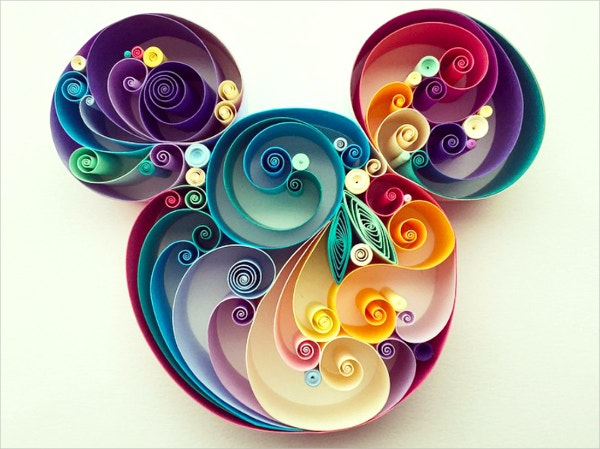swirl paper art quilling