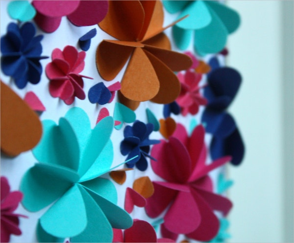 colorful flower paper art