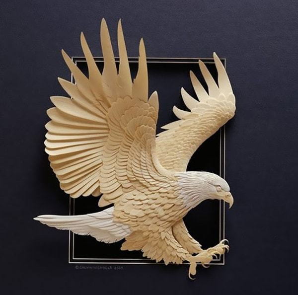 Paper Art of Eagle