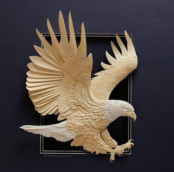 paper art of eagle