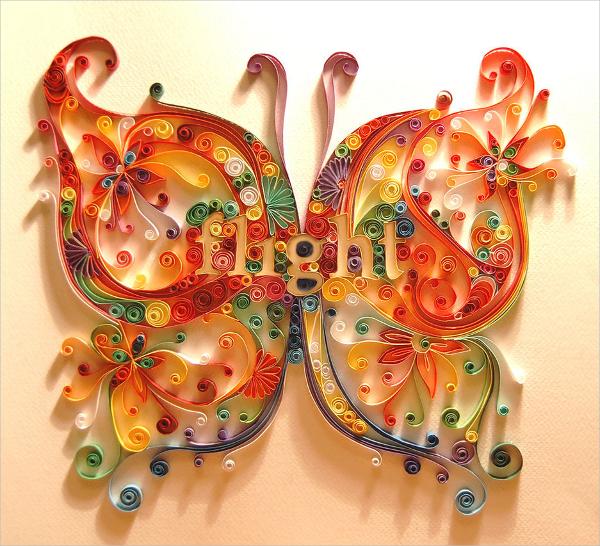 butterfly paper art