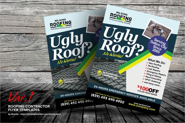 7 Roofing Flyers Psd Eps Ai Free Amp Premium Templates