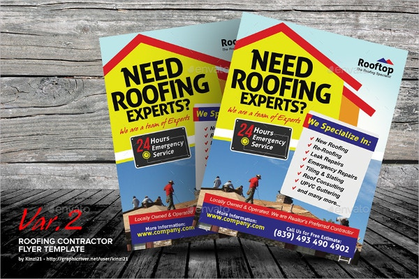Roofing Plumber Flyer Templates