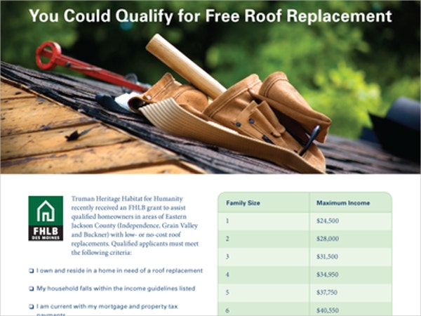 New Roof Flyer Template