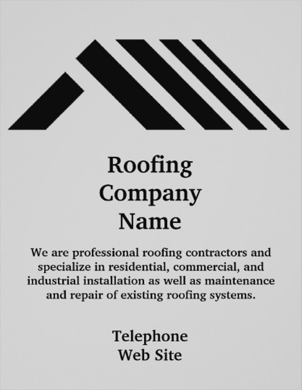 Roofing Company Business Flyer