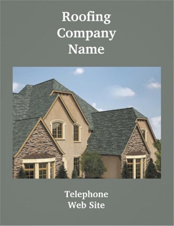 Customize Roofing Flyer
