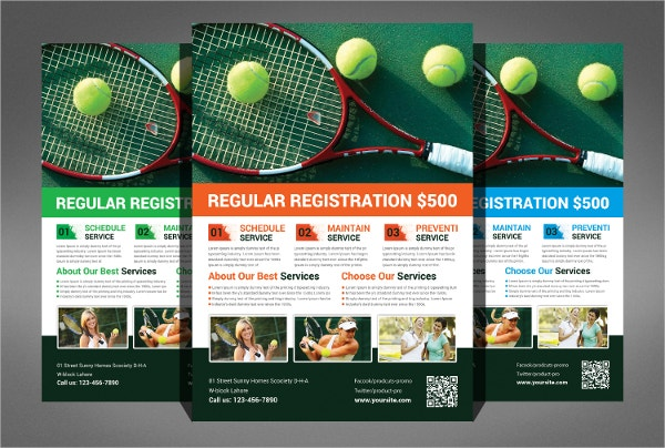 Tennis Players Flyer Template