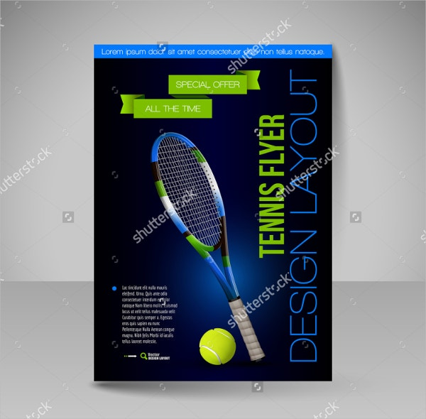 Professional Tennis Flyer Template